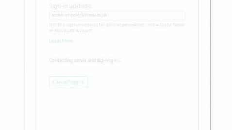 Skype for Business Error