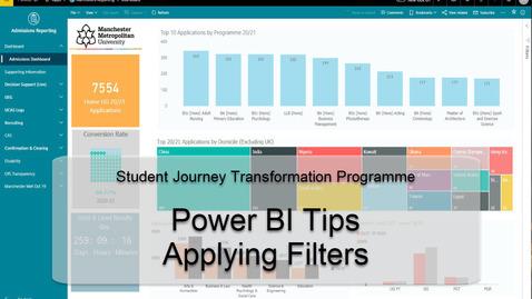 Thumbnail for entry Power BI Tips - Applying Filters