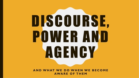 Thumbnail for entry Discourse, Power and Agency podcast Mapping the Territory