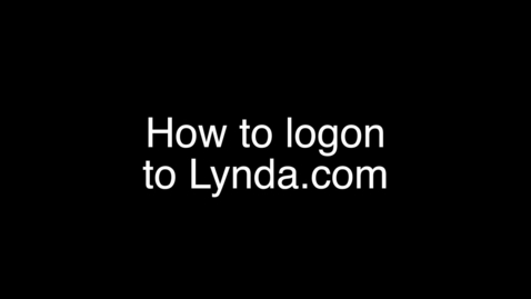 Thumbnail for entry How to logon to Lynda.com