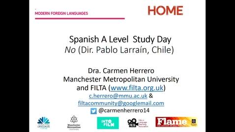 Thumbnail for entry Introduccion  pelicula No (Carmen Herrero)-video [April 2021]