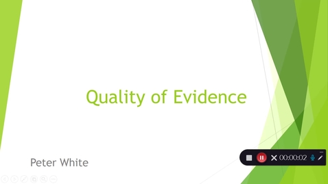 Thumbnail for entry Quality of Evidence: Part 1