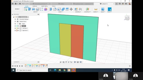 Thumbnail for entry Clip of 6ABM7143 - Fusion 360 - Joints and assemblies - Wardrobe doors