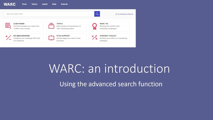 WARC: an introduction