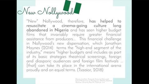 Thumbnail for entry World Cinema wk2_Nigerian Cinema (pt.2 - 4mins)