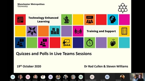 Thumbnail for entry Quizzes and Polls in Live Teams Sessions - 19 oct 2020