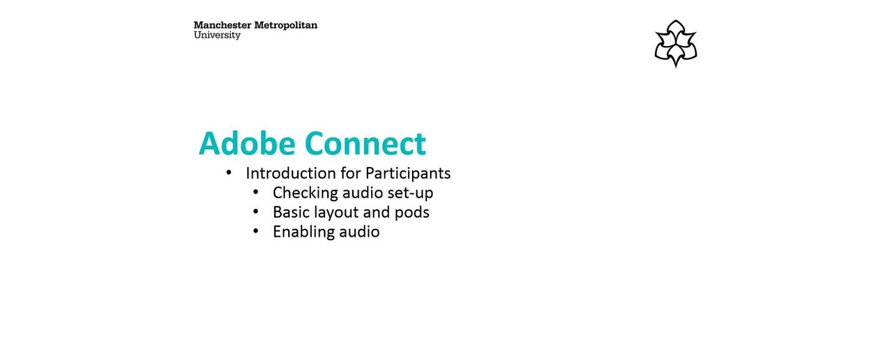 Adobe Connect: Introduction for Participants