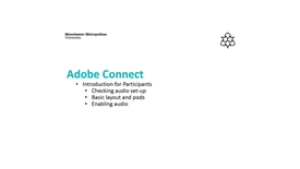 Thumbnail for entry Adobe Connect: Introduction for Participants