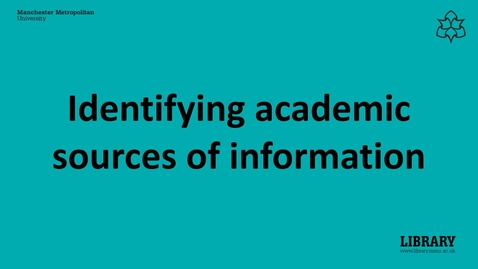Thumbnail for entry Identifying and evaluating sources of information