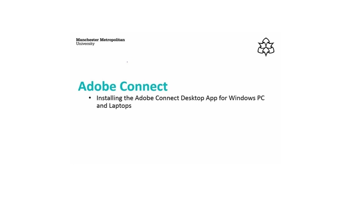 Installing the Adobe Connect Desktop App for Windows PC/Laptop