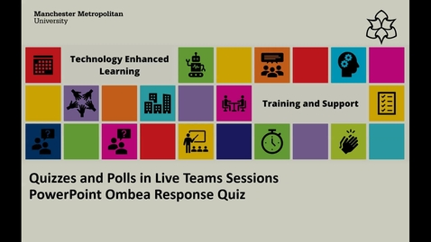 Thumbnail for entry Quizzes and Polls in Live Teams Sessions - PowerPoint Ombea Response