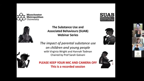 Thumbnail for entry SUAB webinar: The impact of parental substance use on children and young people
