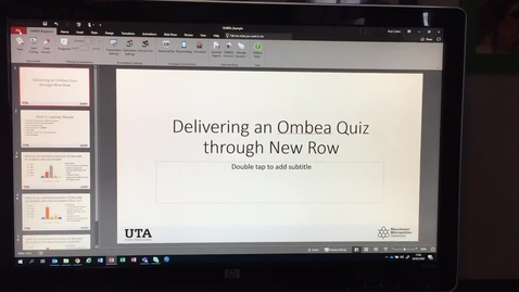 Thumbnail for entry Delivering Ombea quizzes via NewRow