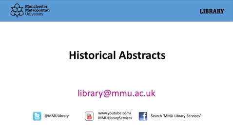 Thumbnail for entry Historical Abstracts