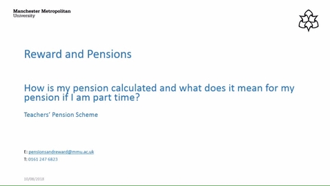 Thumbnail for entry How is my pension calculated and what does it mean if I am part-time? (Teachers' Pension Scheme)