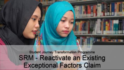 Thumbnail for entry SRM - Reactivate an Existing Exceptional Factors Claim