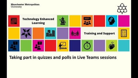 Thumbnail for entry Taking part in Quizzes and Polls in Live Teams Sessions - Student Options