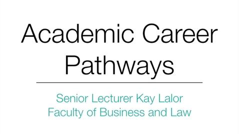 Thumbnail for entry Senior Lecturer Kay Lalor