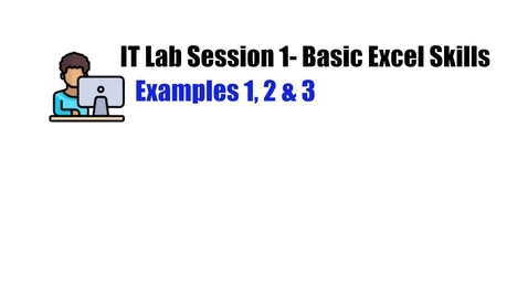 Thumbnail for entry IT Lab Session 1_Example 1,2&3