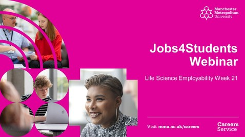 Thumbnail for entry #LSEW21 Jobs4Students Webinar