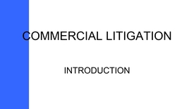 Thumbnail for entry COMMERCIAL LITIGATION - INTRO PODCAST WITH SOUND