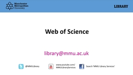 Thumbnail for entry Web of Science
