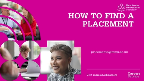 Thumbnail for entry Placement Bitesize Series - How to Find a Placement