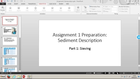 Thumbnail for entry 6F4Z3003 Assignment 1: How to analyse sieving data