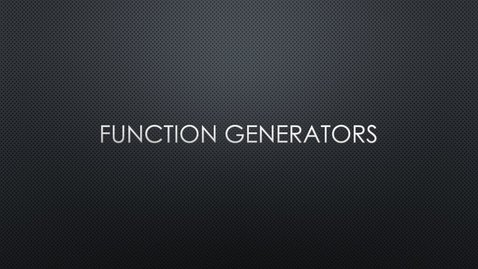 Thumbnail for entry Function Generators MMU