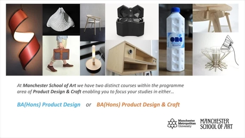 Thumbnail for entry BA (Hons) Product Design @Manchester Met