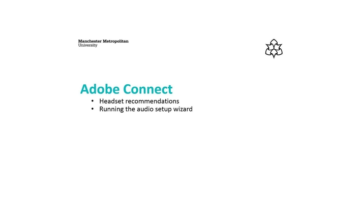 Getting ready to use Adobe Connect: Headsets and audio set-up