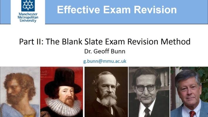 Effective Exam Revision, Part II