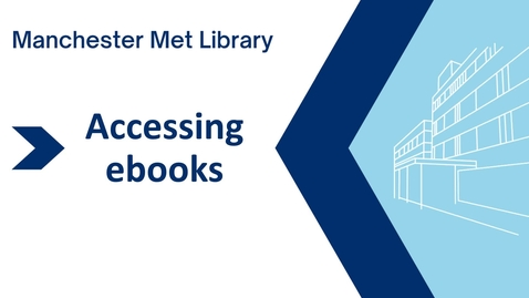 Thumbnail for entry Accessing and using ebooks