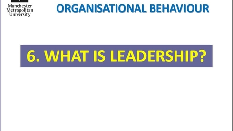 Thumbnail for entry 6 LEADERSHIP