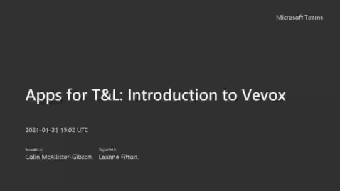 Thumbnail for entry Apps for T&L_ Introduction to Vevox