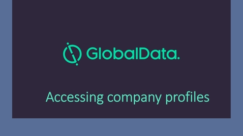Thumbnail for entry Global Data: accessing company profiles