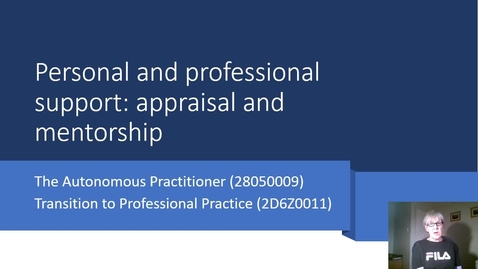 Thumbnail for entry Lecture personal and professional support - appraisal and mentorship