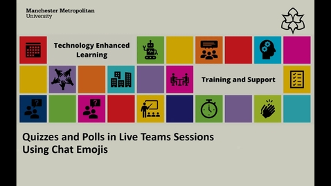 Thumbnail for entry Quizzes and Polls in Live Teams Sessions - Using Chat Window Emojis