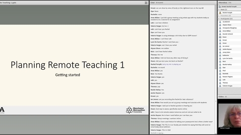 Thumbnail for entry Planning remote teaching 1 – Getting started