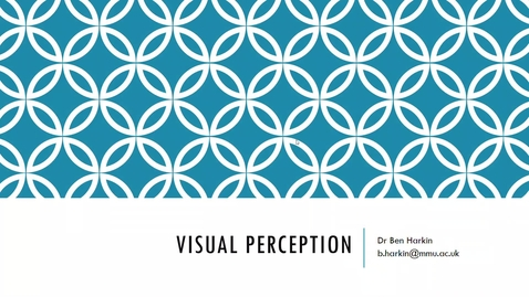 Thumbnail for entry Visual Perception - Cog Psych - L5