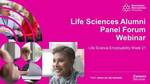 Thumbnail for entry #LSEW21 Life Sciences Alumni Panel Forum Webinar