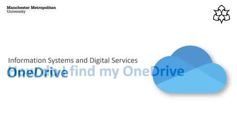 Thumbnail for entry OneDrive: Finding your OneDrive