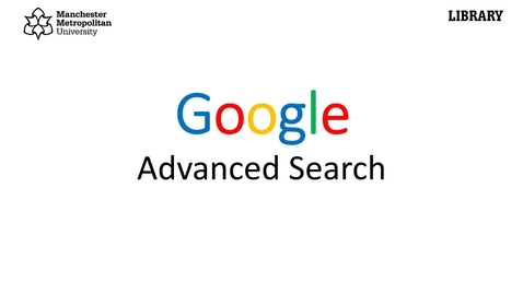 Thumbnail for entry Google: advanced search