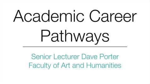 Thumbnail for entry Senior Lecturer Dave Porter