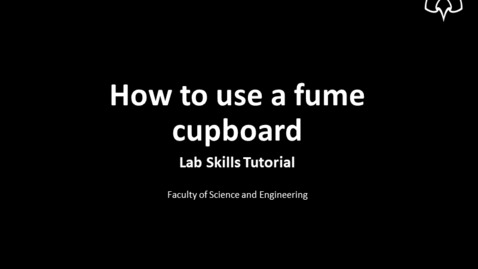 Thumbnail for entry How to use a fume cupboard