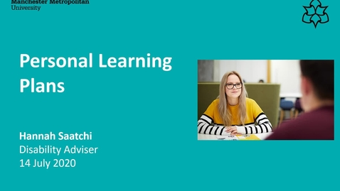 Thumbnail for entry Disability Service Personal Learning Plan Video July 2020