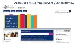Thumbnail for entry Accessing articles from  Harvard Business Review