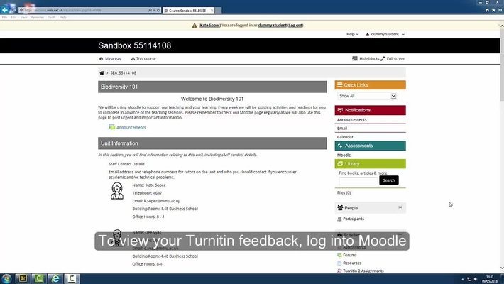 How to view your feedback in Turnitin