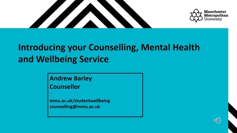 Thumbnail for entry Counselling, Mental Health and Wellbeing Service - Webinar