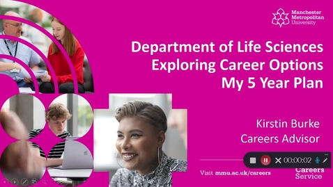 Thumbnail for entry Dept of Life Sciences | Exploring Career Options & My 5 Year Plan
